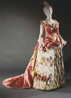 Evening Dress by Charles Frederick Worth, 1886-1887