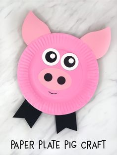Pappteller Pig Craft für Kinder Paper Plates Pig Craft for Kids Farm Crafts for Preschool Children Farm Animals Preschool, Farm Animal Crafts, Pig Crafts, Animal Crafts For Kids, Daycare Crafts, Toddler Crafts, Preschool Crafts, Diy Crafts For Kids, Dinosaur Crafts