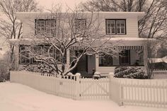 Hubbard Park, 1st snow, 2011... Not my favorite architectural style, but we will change it over time...