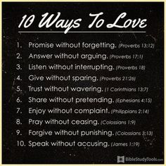 10 Ways to Love #inspirations #love #faith