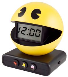 Decoration Ideas, Retro And Classic Pacman Alarm Digital Number Clock For Funny Kids Bedside Table Decor: Inspiring Retro Alarm Clock For Cool Home Decoration Ideas