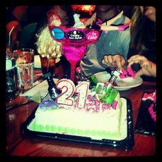 21st birthday cake (:
