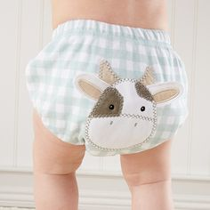 """Farm Fannies"" Down-Home Diaper Cover ( Boys 0-6 Months)"