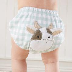 """""""Farm Fannies"""" Down-Home Diaper Cover ( Boys 0-6 Months)"""