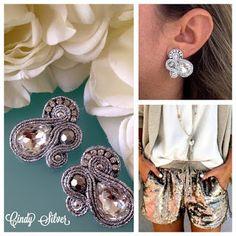 Veronique Creazioni Soutache Earrings, Diamond Earrings, Shibori, Crafts, Jewelry, Fashion, Bijoux, Ear Rings, Jewels