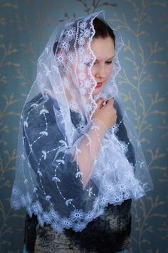 Excited to share the latest addition to my shop: Church Scarf Veil, Mantilla Veil White, Bridal Mantilla, White Veil for Mass, Catholic Gift Wife, Mantilla Wrap, Catholic Gifts Her #accessories #wedding #churchscarfveil #mantillaveilwhite #bridalmantilla #whiteveilformass #catholicgiftwife