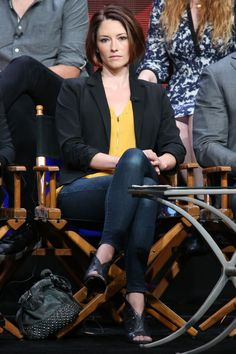 Chyler Leigh poses for Supergirl Panel at CBS Summer TCA Tour in Beverly Hills