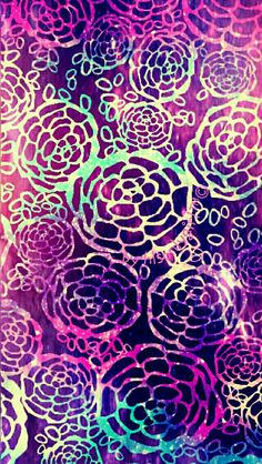 Cute floral glow galaxy wallpaper I created for the app CocoPPa.