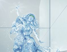 "Check out new work on my @Behance portfolio: ""water girl"" http://on.be.net/1R4Tnp0"