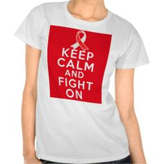 Squamous Cell Carcinoma Keep Calm and Fight On Tee Shirt by www.giftsforawareness.com #squamouscellcarcinoma #cancerawareness