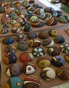 Meagan Chaney Gumpert - Studio Artist: Almost Finished and Etsy finds. These would be great designs for stones.