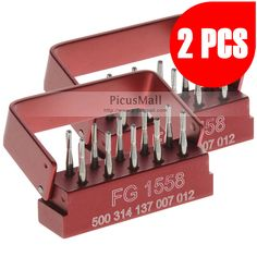 2 Kits SBT Dental Tungsten Steel drills/burs For High Speed Handpiece FG-1558 - Xinyuan - Diamond Burs - PicusMall