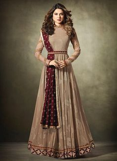 Buy indian salwar kameez online with the finest collection of indian bollywood replica salwar suit. Order this Jennifer Winget jacquard, lycra and net floor length anarkali suit for festival, party and wedding