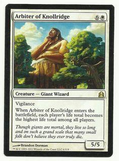White Lorwyn Mtg Magic Rare 1x x1 1 FOIL Arbiter of Knollridge