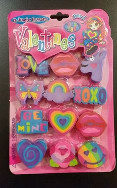Lisa Frank Party Favors Valentines Erasers in Collectibles, Paper, Stationery | eBay
