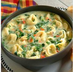 I Made this Spinach Tortellini soup the other day and it was delicious! One of the easiest soup recipes to follow and a real winner in my book.
