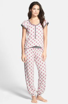'Playing Favorites' Print Jersey Pajamas