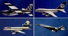 Aircraft models, real ones