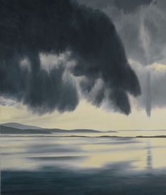Virga 1992 April Gornik Born: Cleveland, Ohio 1953 oil on linen 90 x 76 in. x cm) Smithsonian American Art Museum Gift of the J. Watercolor Landscape, Landscape Paintings, Landscapes, Russian Painting, Whitney Museum, Sky And Clouds, Fantastic Art, American Artists, New Art