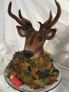 Deer Head cake- for my redneck nephew!!