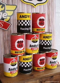 Birthday Party Ideas - Blog - VINTAGE RACE CAR PARTY