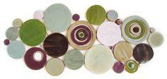 Handmade Bubbles Mosaic Tile in R&B Blend #circletile #purple #green #blue #brown #kitchentile #bathroomtile
