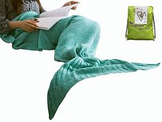 "Hughapy knitted Mermaid Tail Blanket for Adults Teens,Kids Crochet Snuggle Mermaid,All Seasons Seatail Sleeping Blanket (71""x32"", Thin-Mint Green) review - http://www.bestseller.ws/blog/home-and-kitchen/hughapy-knitted-mermaid-tail-blanket-for-adults-teenskids-crochet-snuggle-mermaidall-seasons-seatail-sleeping-blanket-71x32-thin-mint-green-review/"