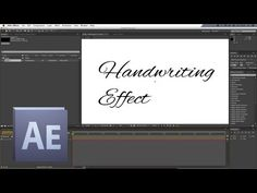 Easy Animated Handwriting in After Effects Adobe After Effects Cs6, Made Video, Motion Graphics, Videography, Handwriting, Photoshop, Animation, Letters, Graphic Design