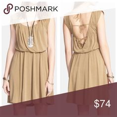 """Free People Triple Tie """"True As Love"""" Dress New with tags Free People """"True As Love"""" triple tie back dress. Low back, flowy in the chest, and from waist to hem. Color is """"fatigue"""" (olive-tan) Free People Dresses"""
