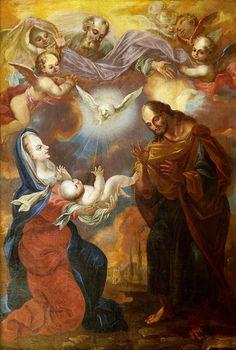 Holy Trinity and the Creation Trinity by Johann Conrad Pöhl, 1710s (PD-art/old), Klasztor Bonifratrów we Wrocławiu