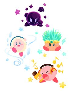 Some cute little Kirby drawings ^^