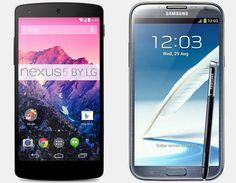 Nexus 5 vs Samsung Galaxy Note 2 – Top Specs and Price Comparison
