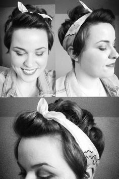 Add a headwrap to a pixie cut for a retro look.