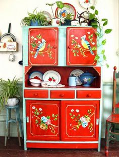 Hand Painted Furniture, Funky Furniture, Paint Furniture, Upcycled Furniture, Furniture Makeover, Home Furniture, Plywood Furniture, Furniture Plans, Kitchen Furniture
