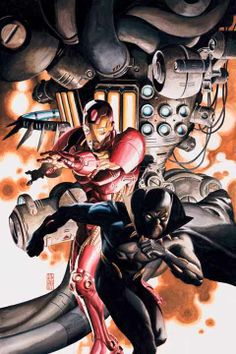 Iron Man and Black Panther by J.G. Jones