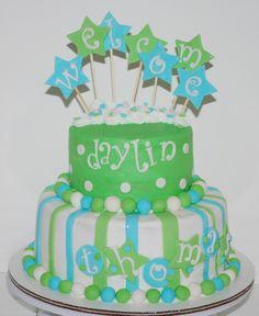 Baby Boy Shower Cake ~ NutMeg Confections