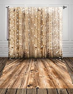 5X10ft Shabby Brown string bokeh wood Vinyl Photography C…