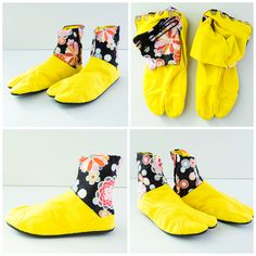 Osaka Aloha Yellow Japonista Sole Jika Tabi Shoes - Japan Lover Me Store  Tabi Shoes d764fc586
