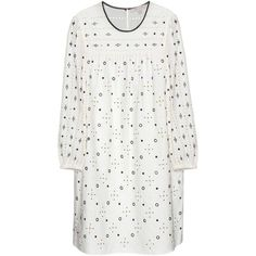Marc Jacobs Embellished Cotton Dress (47,765 INR) ❤ liked on Polyvore featuring dresses