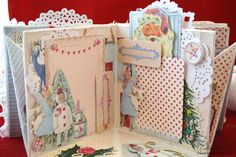 Diy And Crafts, Paper Crafts, Christmas Journal, December Daily, Deco, Antique Dolls, Beautiful World, Shadow Box, Mixed Media