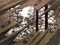 M. C. Escher - Plas, Puddle