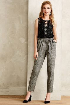 Lace Medley Jumpsuit #anthropologie