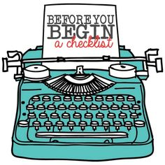 Before You Begin Checklist