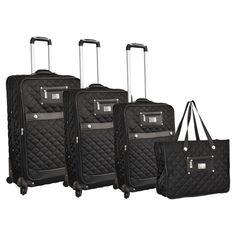 0597034ed4b Adrienne Vittadini 4 Piece Arianna Luggage Set Best Luggage, Luggage Sets,  Travel Tote,