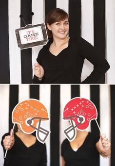 Superbowl Party Photo Booth #superbowlparty