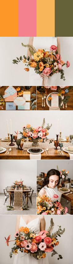 Tangerine, watermelon, butterscotch, and olive | Images by Carrie J. Photography