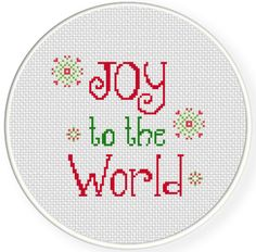 FREE for Dec 20th 2014 Only - Joy to the World Cross Stitch Pattern