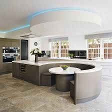 Kitchen island booth decor ideas 33 - Home Decoration Ideas Luxury Kitchen Design, Kitchen Room Design, Dream Home Design, Luxury Kitchens, Home Decor Kitchen, Kitchen Living, Interior Design Kitchen, Kitchen Ideas, Space Kitchen