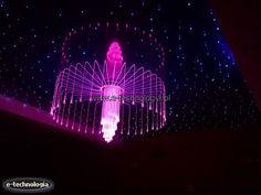 Lampy LED - podświetlenie sali konferencyjnej - oświetlenie sali weselnej - dekoracja sali balowej - światło w sali konsumpcyjnej - projekty sal publicznych