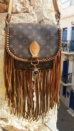 ee2013ea3b25 The World Travler (Large) Louis Vuitton fringe upcycle gift for her boho w  - LV Pochette - Latest and trending LV Pochette. - The World Travler  (Large) ...